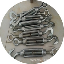 Drop Forged Electric Galvanized DIN1480 Turnbuckle with Hook and Eye