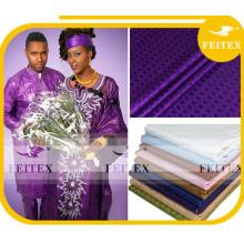 Traditionelle afrikanische Kleidung Stickerei Bazin für Textil-Baumwollgewebe, Baumwollgewebe