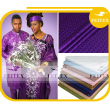 Traditional African Clothing embroidery bazin for textile cotton fabric , cotton textile