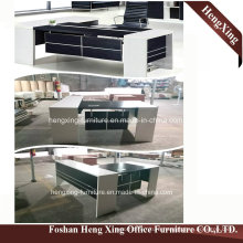 (HX-5N080) Black and White Manager Office Desk Modern Office Furniture