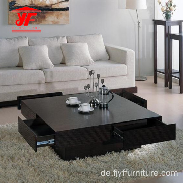 Sofa Square Center Table Design mit Schubladen