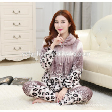 Fashionable Leopard Printed Warm Missy's Home Wear suit wholesale