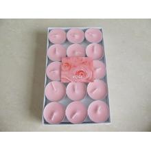 Ensemble de 15 bougies chauffe-plat au soja rose