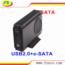 USB 3,5 SATA HDD Enclosure con ventilatore