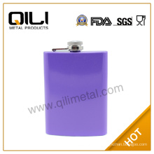 7oz Leather wrapped stainless steel novelty hip flask