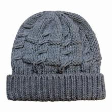 Senhora moda acrílico de malha inverno chapéu gorro quente (yky3102)