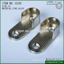 flat tube flange for furniture wardrobe hardware