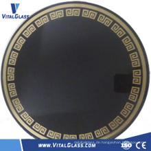 Schwarzes Keramikglas / Kamin Keramik Glas / Induktionskocher Keramikglas