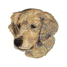 Golden Retriever Hundras Broderipatch Applique