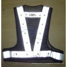 Gilet réfléchissant de LED de mode