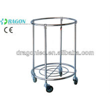 DW-DC211 Stainless steel medical trolleys Cart for Dirty Clothes hospital equipment