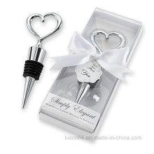 Populäre Hochzeits-Bevorzugung, Hochzeits-Geschenk, Metallflaschen-Stopper, Wein-Stopper