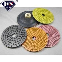 Pisos de pulido abrasivos de piso de diamante flexible húmedo