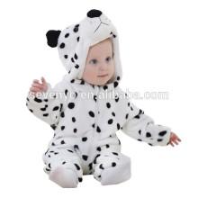 Soft bébé barboteuse Animal Onesie Costume Cartoon Outfit Homewear dormir porter, flanelle, bébé blanc porter, mignon serviette à capuchon