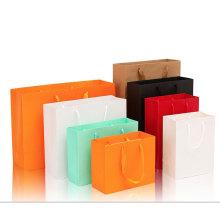Custom made logo hand kraft gift paper bag for gift clothing store, women's clothing