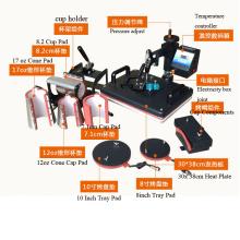 Multi-Functional Combo Sublimation Press, Sublimacion 8 En 1 Heat Transfer Machine