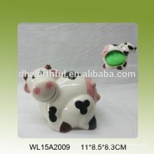 Sostenedor de esponja de cerámica caliente de la venta en forma encantadora de la vaca