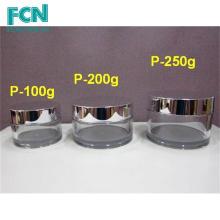 Серебряный роскошный образец качественной пластиковой упаковки крема ПЭТГ 100 мл косметические jar
