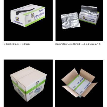 Feuilles pop-up en papier d'aluminium entrelacées