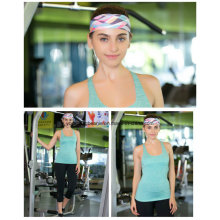 Atacado Wide Polyester Spandex Imprimir Yoga Sports Headbands