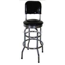 Chaise de bar avec chrome cadre