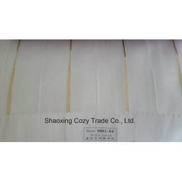 New Popular Project Stripe Organza Voile Sheer Curtain Fabric 008284