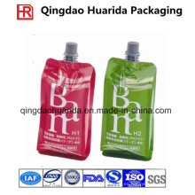 Bolsa plástica reutilizable del canalón de la comida para el jugo y la jalea