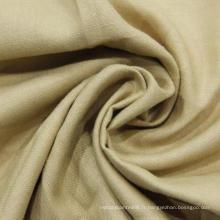 Tissu à rayons de lin mélangé, Tissu mélangé Tencel Rayon