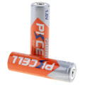 2018 PKCELL 1.6v 2500mwh batería recargable ni-zn alta batería de drenaje