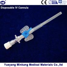 Cápsula intravenosa desechable IV / catéter intravenoso con puerto de inyección 22g