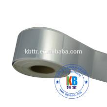 Waterproof printed PVC/PET matt silver polyester label sticker