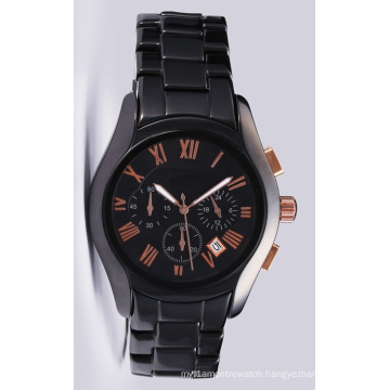 Glatt Mens Quality Ceramni Watch at 42mm Case