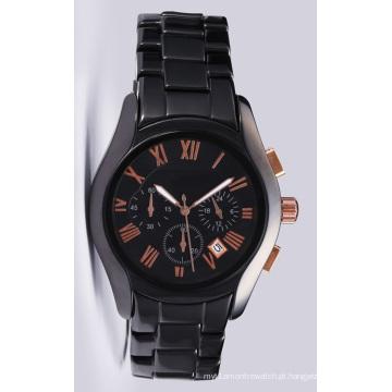 Glatt Mens Qualidade Ceramni Watch em 42mm Case