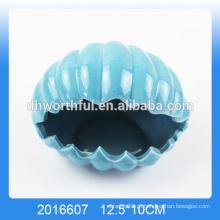 De alta qualidade do mar shell cinzeiro de cerâmica por atacado