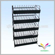 5 Stufen Metalldraht verstellbares Regal für Nagellackhalter mit Schild lable