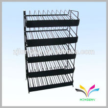 5 tiers metal wire adjustable shelf for nail polish bracket with sign lable