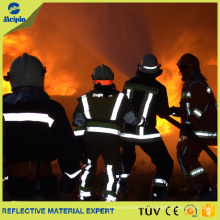 Fluorescent Flame Retardant Reflective Fabric Tape for Firefighter Garments
