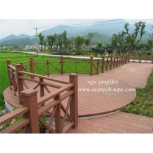 Easy Cleaning Compuesto de bajo mantenimiento WPC Patio Park Fencing Wood