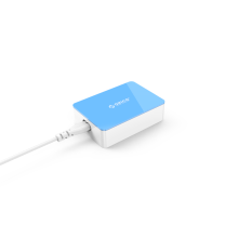 Multi USB 6 port desktop charger super speed charging for apple android mobile, colorful fashion design