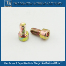 DIN912 M6X12 Yellow Galvanized Hex Socket Cap Screw