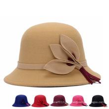 Леди Модная шерстяная трикотажная зимняя теплая ведровая шляпа (YKY3240)