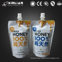 custom printed laminate material plastic stand up spout pouch/liquid packaging pouch/juice stand up pouch