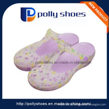 Venda Por Atacado Hollow Breathable Purple Últimas Lady Sandal