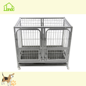 Mode Rostfrei Black Square Tube Dog Cage
