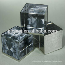 2015 оптовая продажа Кристалл куб,кристалл,печать пресс-папье для украшения офиса 3D лазер