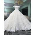 New Design Elegant Alibaba White Ivory muslim Long Sleeve A Line Lace wedding Dresses vestidos de fiesta 2017