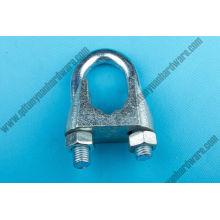 Clip de la cuerda de alambre DIN741 / hardware marino de la abrazadera galvanizada