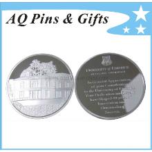 Moneda de plata esterlina Witn 3D Logo