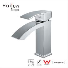 Haijun High Quality Deck Mounted Thermostatic Waterfall Washbasin Faucet