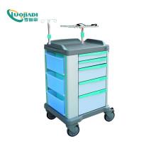 Carrinho para medicamentos de emergência, carrinho médico ABS